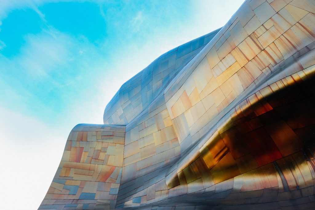 Seattle's EMP Museum, housed in a futuristic gallery designed by architect Frank Gehry, pays tribute to music, sci-fi, and pop culture under one roof.